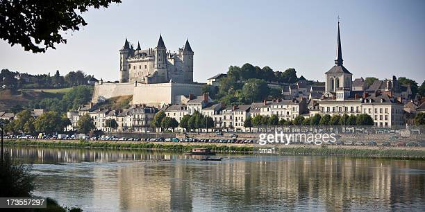 saumur panorama - loire valley stock pictures, royalty-free photos & images