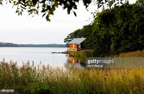 Sauna by the sea Aland archipelago Finland.
