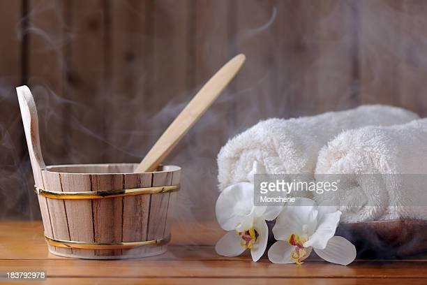 Sauna equipment with steam