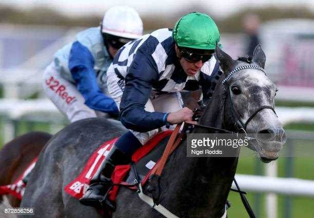 Saunter ridden by Jim Crowley wins The Betfred November Handicap Stakes at Doncaster Racecourse on November 11 2017 in Doncaster England