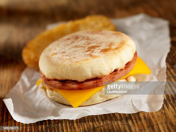 Sausage and Cheese Breakfast Sandwich