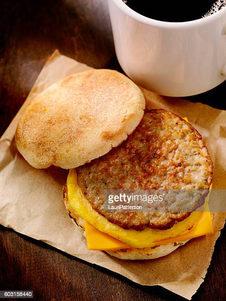 Sausage and Egg Breakfast Sandwich