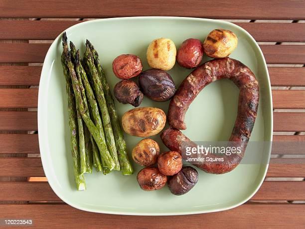 Sausage, Asparagus, and Potatoes