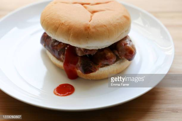 sausage barm - sausage stock pictures, royalty-free photos & images