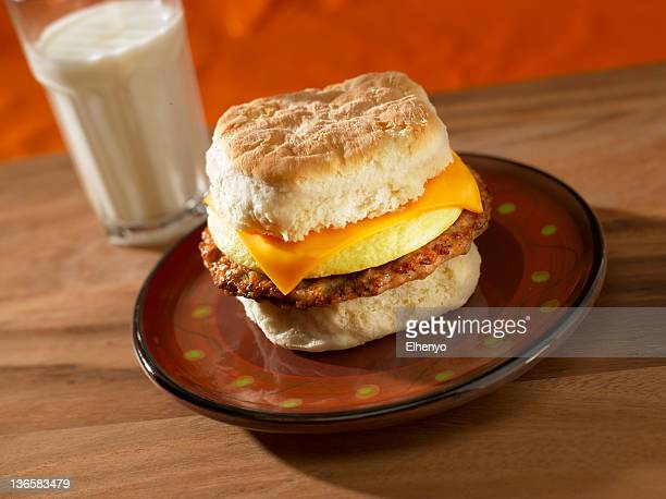 Sausage, Egg and Cheese Breakfast Sandwich