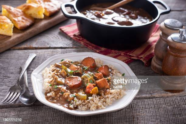 sausage gumbo - west indian culture stock pictures, royalty-free photos & images