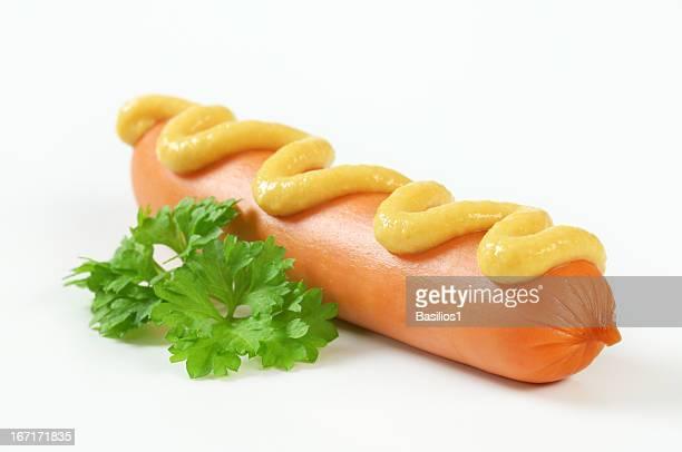 sausage with mustard