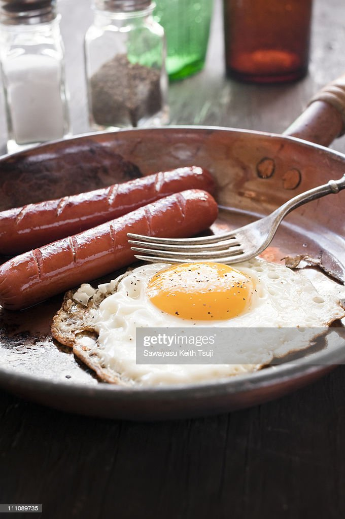 Sausages and egg : Stock Photo