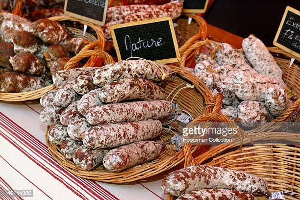 Sausages at a French Market Southern France