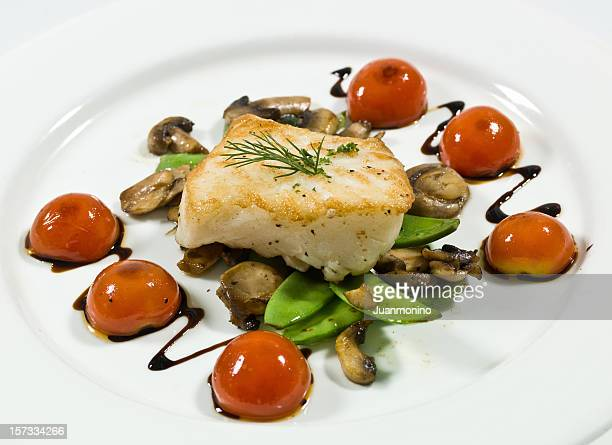 Saute fillet of seabass