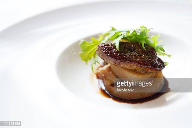 sauteed foie gras - french food stock pictures, royalty-free photos & images