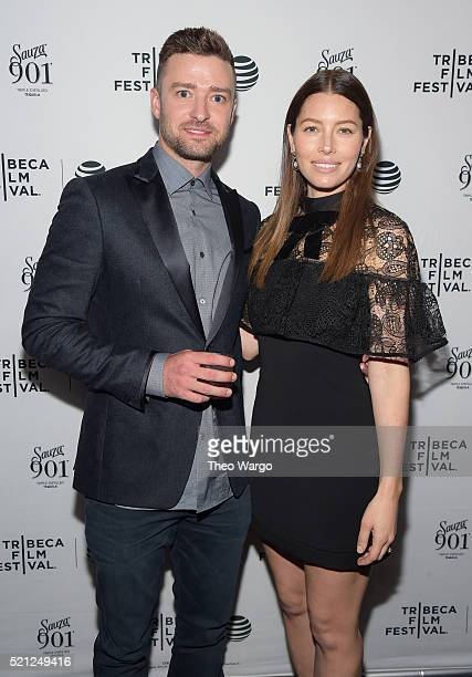 Sauza 901 Tequila founder Justin Timberlake and Jessica Biel arrive at the Tribeca Film Festival 'Devil and the Deep Blue Sea'screening afterparty...