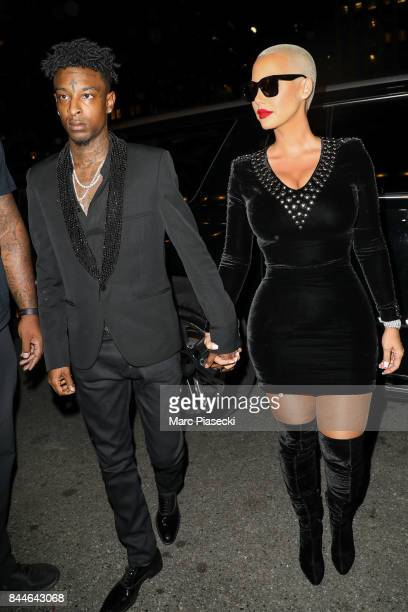 21 Savage and Amber Rose are seen on September 8 2017 in New York City