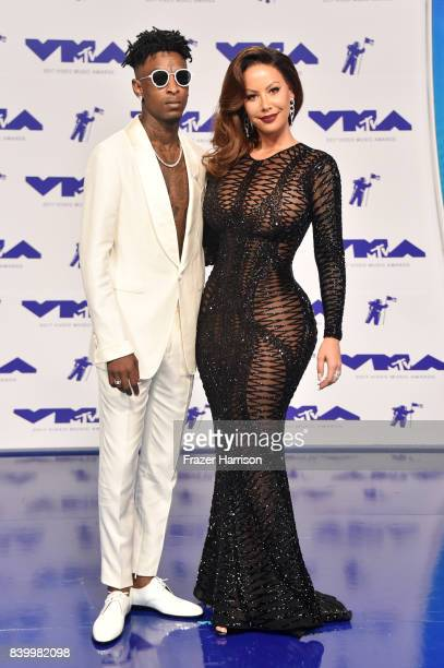 Savage and Amber Rose attend the 2017 MTV Video Music Awards at The Forum on August 27 2017 in Inglewood California