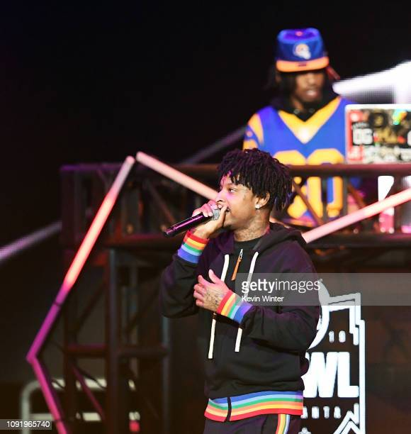 Savage and Metro Boomin perform onstage during Bud Light Super Bowl Music Fest / EA SPORTS BOWL at State Farm Arena on January 31 2019 in Atlanta...