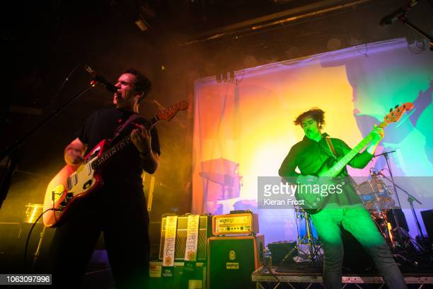 Savage and Sean Yeaton of Parquet Courts perform at The Academy on November 03, 2018 in Dublin, Ireland.