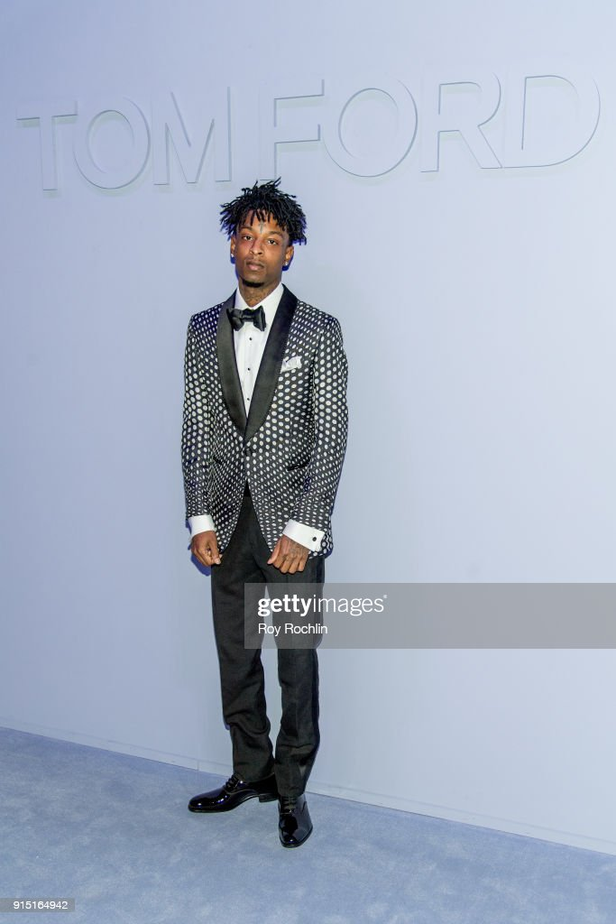 21 Savage attends Men's Runway Show at Park Avenue Armory on February 6, 2018 in New York City.