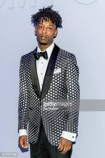 Savage attends Men's Runway Show at Park Avenue Armory on February 6 2018 in New York City
