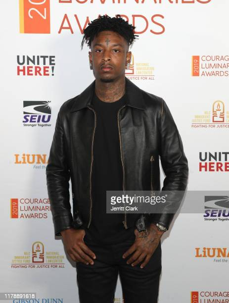 Savage attends NILC Courageous Luminaires Awards Honoring 21 Savage on October 03 2019 in Los Angeles California