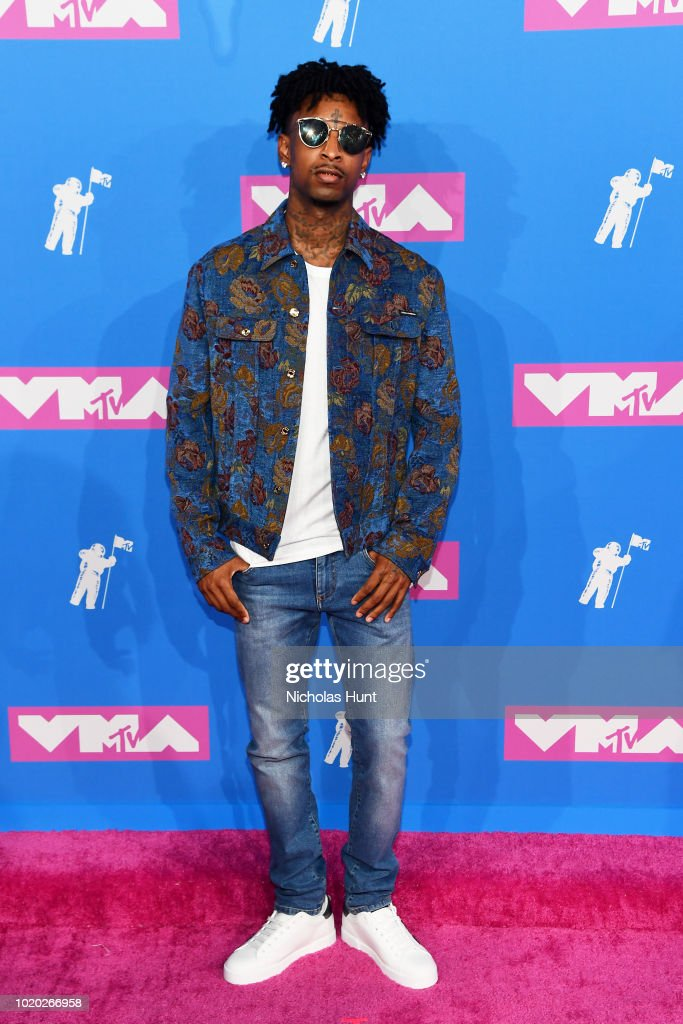 21 Savage attends the 2018 MTV Video Music Awards at Radio City Music Hall on August 20, 2018 in New York City.