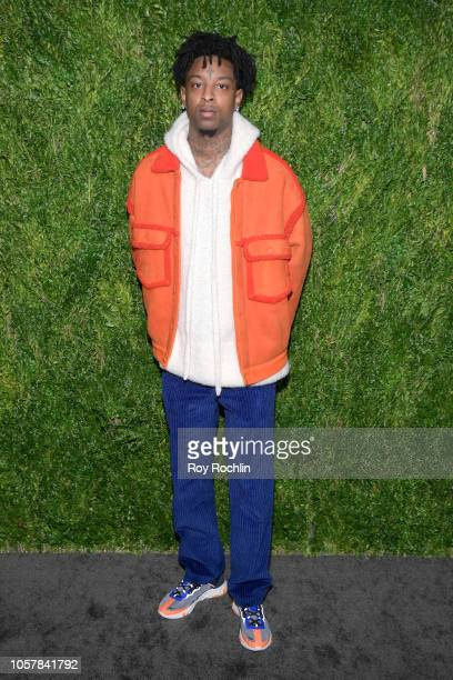 Savage attends the CFDA / Vogue Fashion Fund 15th Anniversary Event at Brooklyn Navy Yard on November 5 2018 in Brooklyn New York