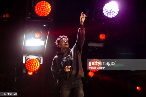 Savage performs at Rolling Loud festival at OaklandAlameda County Coliseum on September 28 2019 in Oakland California
