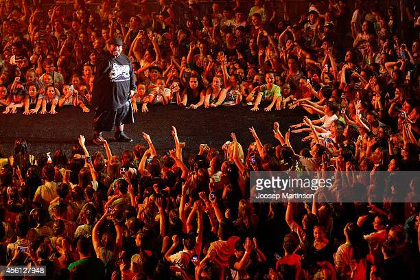 Savage performs during the Nickelodeon Slimefest 2014 evening show at Sydney Olympic Park Sports Centre on September 26 2014 in Sydney Australia