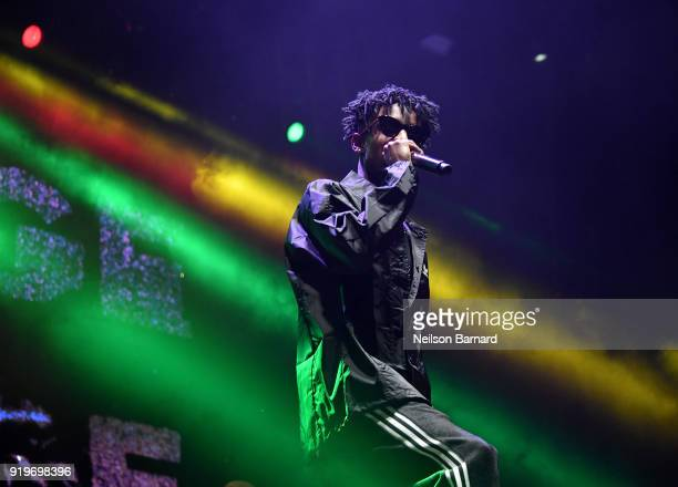 Savage performs onstage at adidas Creates 747 Warehouse St an event in basketball culture on February 17 2018 in Los Angeles California