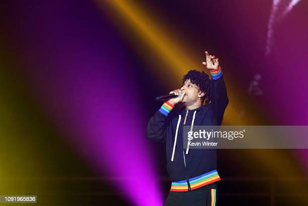 Savage performs onstage during Bud Light Super Bowl Music Fest / EA SPORTS BOWL at State Farm Arena on January 31 2019 in Atlanta Georgia