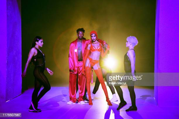 Savage performs onstage during the Savage X Fenty Show Presented by Amazon Prime Video Show at Barclays Center on September 10 2019 in Brooklyn New...