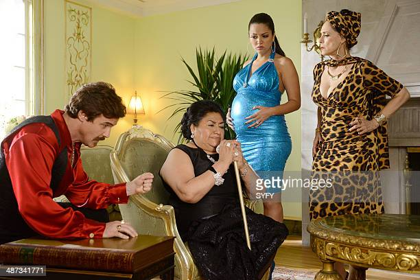 WAREHOUSE 13 'Savage Seduction' Episode 504 Pictured Eddie McClintock as Pete Lattimer Teresa Yenque as Dona Fausta Paula Garces as Kelly Hernandez...