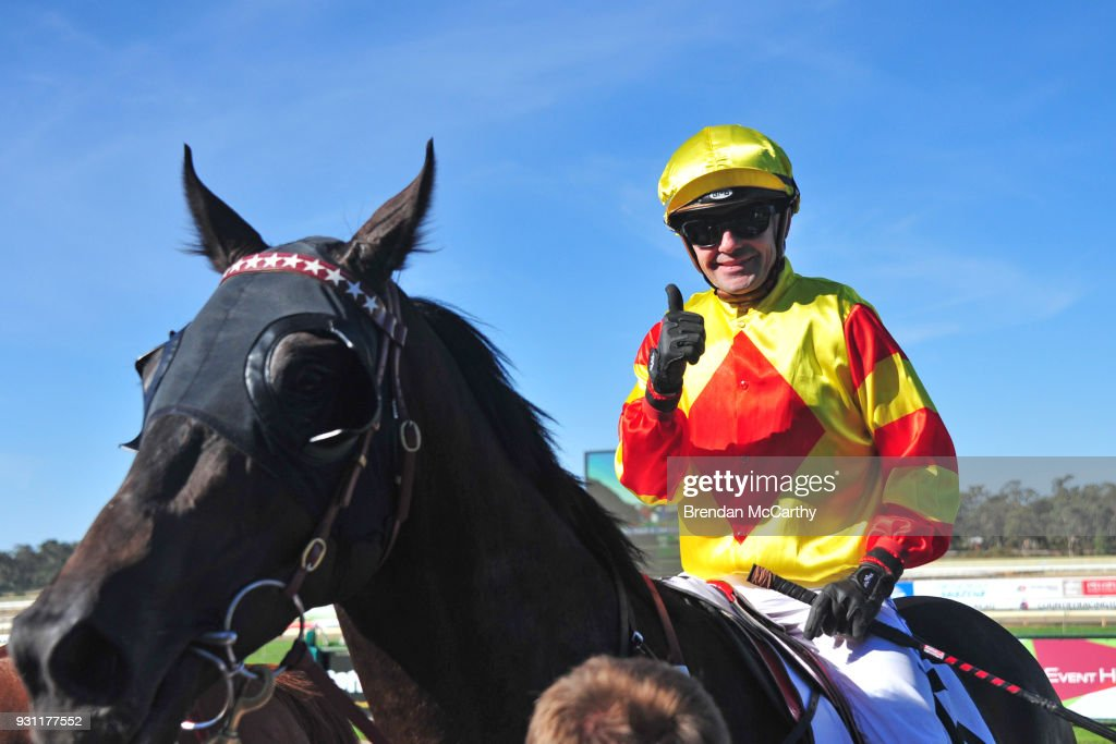 Savaheat (NZ) ridden by Dean Yendall returns to the mounting yard after winning the Hygain BM78 Handicap at Bendigo Racecourse on March 13, 2018 in Bendigo, Australia.