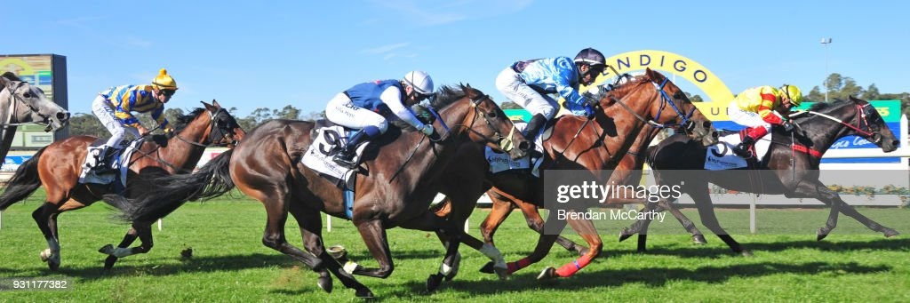 Savaheat (NZ) ridden by Dean Yendall wins the Hygain BM78 Handicap at Bendigo Racecourse on March 13, 2018 in Bendigo, Australia.