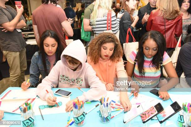 Savanna Game Aaron Melloul Inaya Ashanti and Sydney Bourne attend Mashup LA Influencer Event on February 8 2018 in Playa Vista California Photo by...