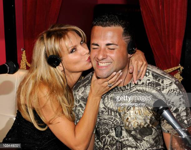 Savanna Samson and Jeff Miranda attend a taping of Steppin' Out of the Tabloids with Chaunce Hayden at Sapphire New York on August 18 2010 in New...