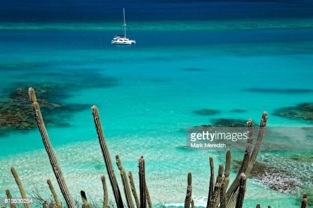 savannah bay, virgin gorda, british virgin islands - islas de virgin gorda fotografías e imágenes de stock