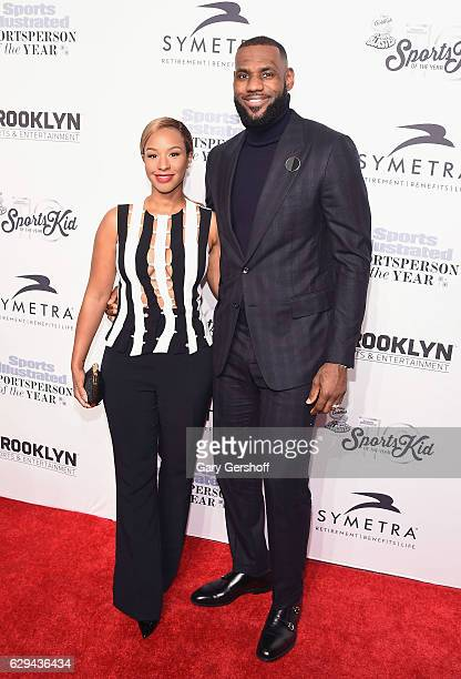 Savannah Brinson and event honoree LeBron James attend the 2016 Sports Illustrated Sportsperson of the Year at Barclays Center of Brooklyn on...