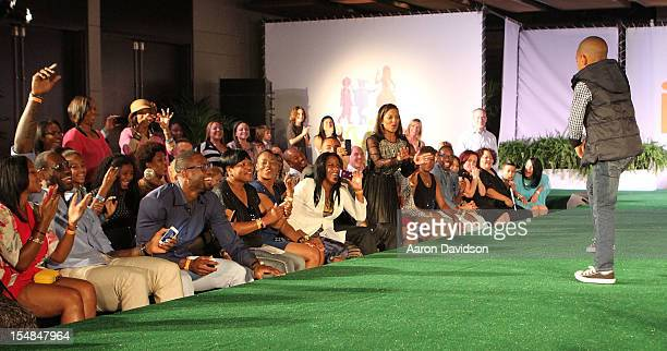 Savannah Brinson Lebron James Dwyane Wade and Jenine Howard attend The Juice Foundation Reception and Fashion Show at W South Beach Hotel Residences...
