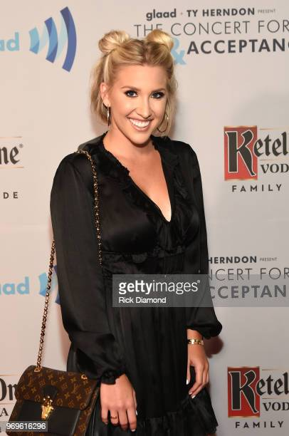 Savannah Chrisley attends the GLAAD TY HERNDON's 2018 Concert for Love Acceptance at Wildhorse Saloon on June 7 2018 in Nashville Tennessee