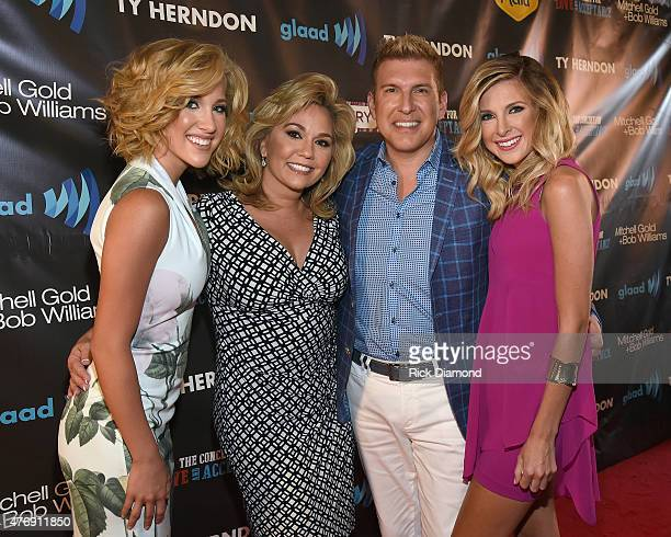 Savannah Chrisley Julie Chrisley Todd Chrisley and Lindsie Chrisley Campbell attend The Concert For Love And Acceptance at City Winery Nashville on...