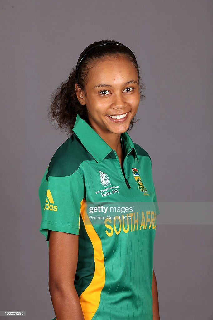 Savannah Cordes of South Africa poses at a portrait session ahead of the ICC Womens World Cup 2013 at the Taj Mahal Palace Hotel on January 27, 2013 in Mumbai, India.