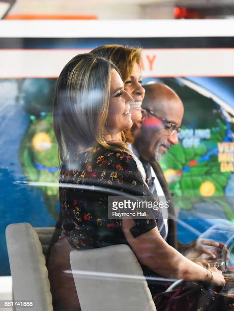 Savannah Guthrie and Al Roker and Hoda Kotb are seen on the set of 'The Today Show' on November 29 2017 in New York City