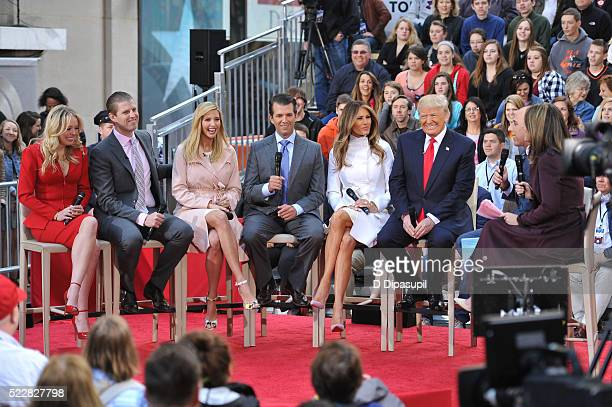 Savannah Guthrie and Matt Lauer interview 2016 Republican presidential candidate Donald Trump wife Melania Trump son Donald Trump Jr daughter Ivanka...