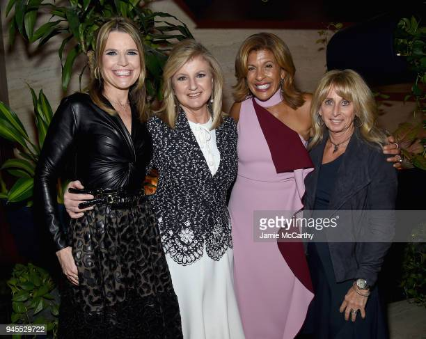 Savannah Guthrie Arianna Huffington Hoda Kotb and Bonnie Hammer attend The Hollywood Reporter's Most Powerful People In Media 2018 at The Pool on...