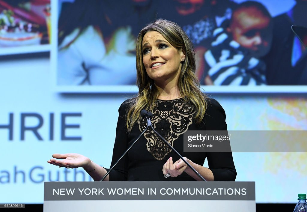 Savannah Guthrie attends 2017 Matrix Awards at Sheraton New York Times Square on April 24, 2017 in New York City.