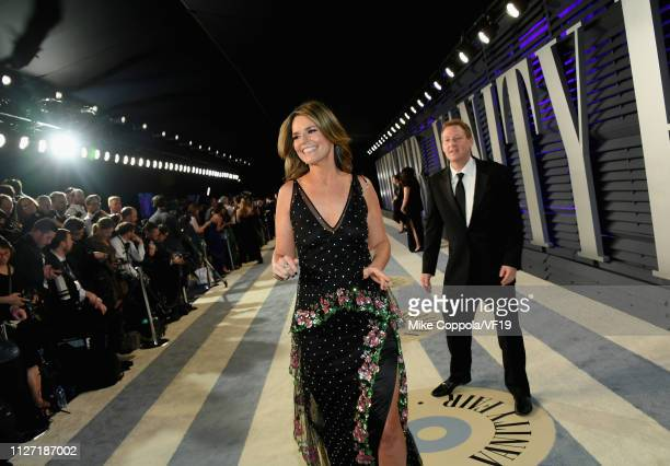 Savannah Guthrie attends the 2019 Vanity Fair Oscar Party hosted by Radhika Jones at Wallis Annenberg Center for the Performing Arts on February 24...