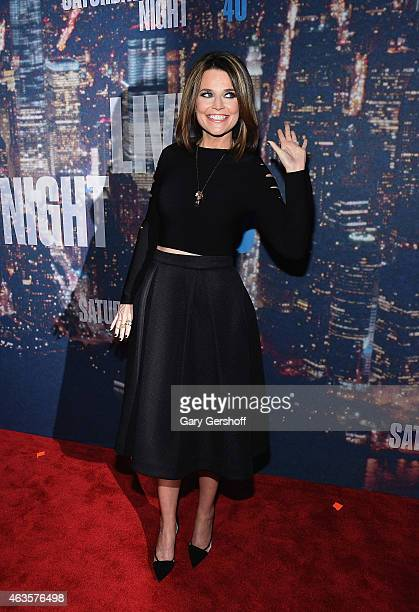 Savannah Guthrie attends the SNL 40th Anniversary Celebration at Rockefeller Plaza on February 15 2015 in New York City