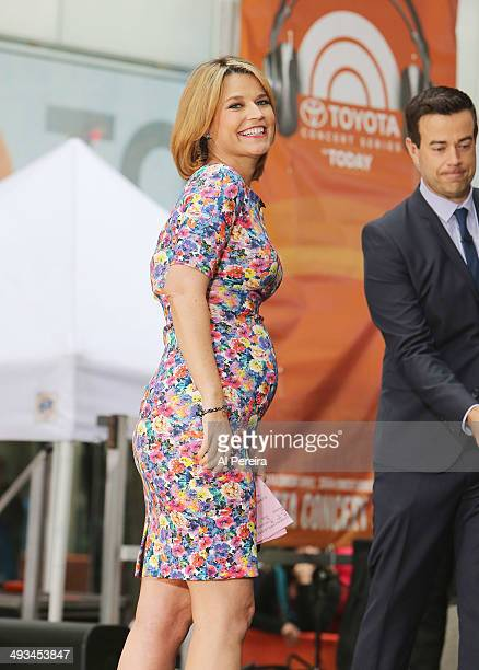 Savannah Guthrie attends the Tim McGraw performance on NBC's Today Show on May 23 2014 in New York City