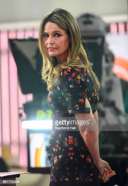 Savannah Guthrie is seen on the set of 'The Today Show' on November 29 2017 in New York City