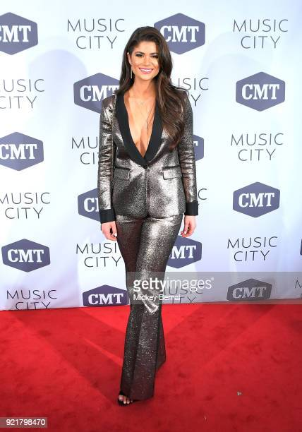 Savannah Hodge attends CMT's 'Music City Premiere' party at The Back Corner on February 20 2018 in Nashville Tennessee